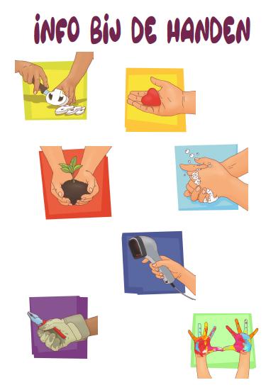 Info bij de handen